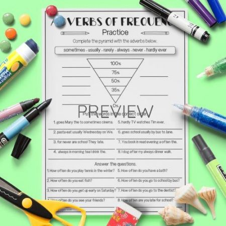 ESL English Adverbs Of Frequency Activity Worksheet