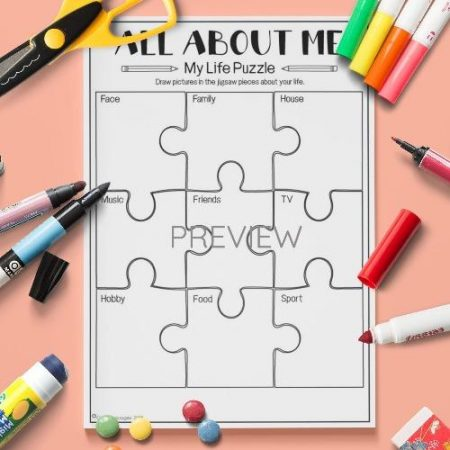 ESL English About Me Life Puzzle Activity Worksheet