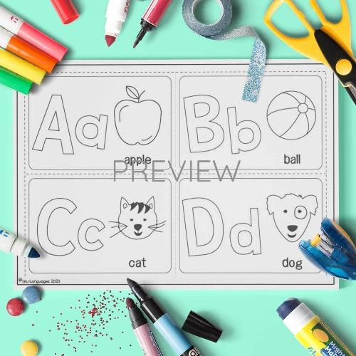 ESL English Alphabet Cards ABCD Activity Worksheet