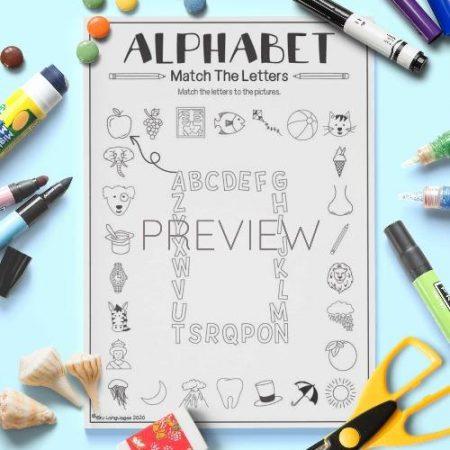 ESL English Alphabet Match The Letters Activity Worksheet