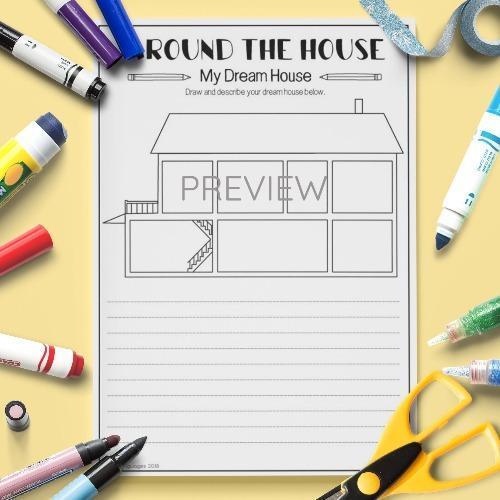ESL English House Draw And Write Activity Worksheet