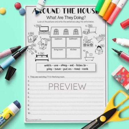 ESL English House Writing Activity Worksheet