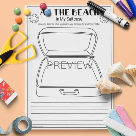 ESL English Beach In My Suitcase Activity Worksheet
