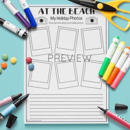 ESL English Beach Holiday Photos Activity Worksheet