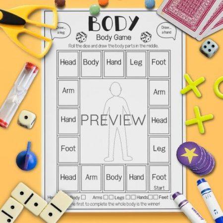ESL English Body Drawing Game Activity Worksheet