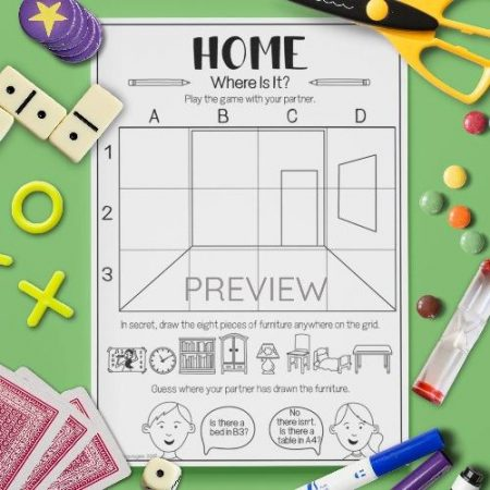 ESL English Home Where Is It Game Activity Worksheet