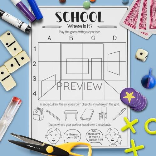 ESL English School Where Is It Game Activity Worksheet