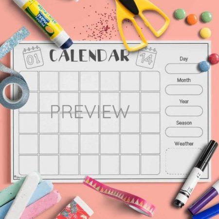 ESL English Perpetual Calendar Activity Worksheet