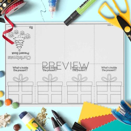 ESL English Christmas Presents Book Craft Activity Worksheet