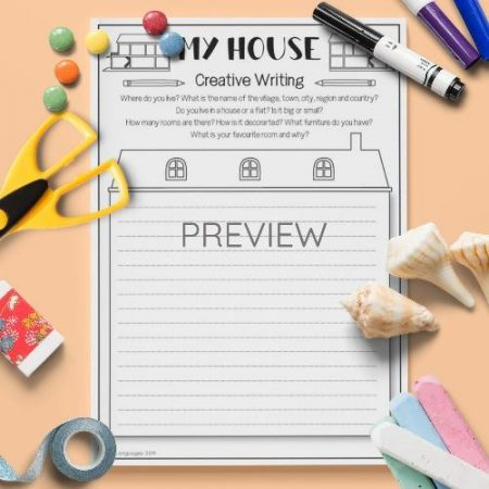 ESL English My House Writing Activity Worksheet