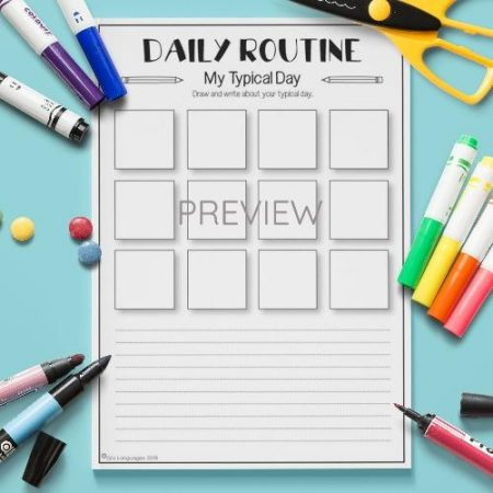 ESL English Daily Routine My Typical Day Activity Worksheet