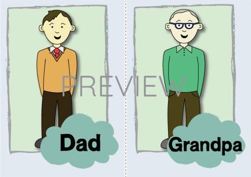 ESL English Dad Grandpa Flashcard