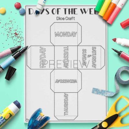 ESL English Days Of The Week Dice Craft Activity Worksheet
