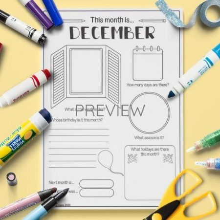 ESL English December Writing Activity Worksheet