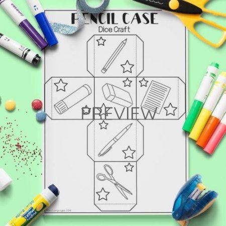 ESL English School Dice Craft Activity Worksheet