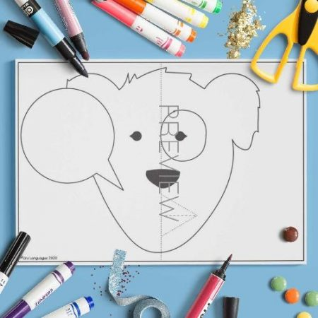 ESL English Daily Routine Pop Up Mouth Craft Activity Worksheet