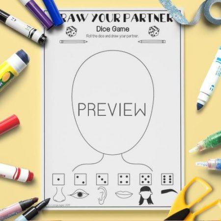 ESL English Draw Your Partner Game Activity Worksheet