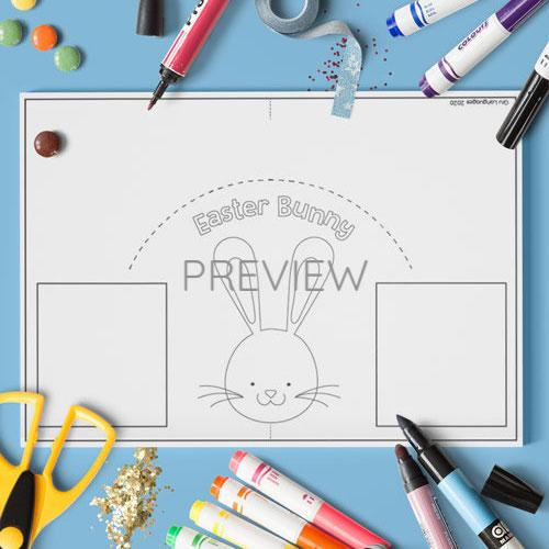 ESL English Easter Bunny Craft Activity Worksheet