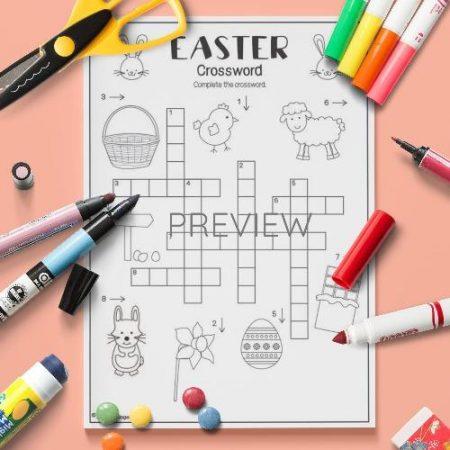 ESL English Easter Crossword Activity Worksheet