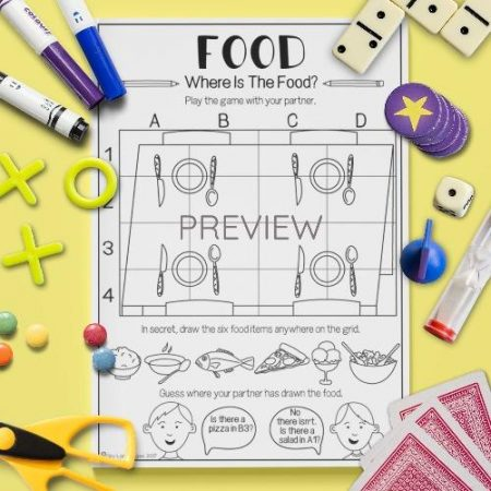 ESL English Food Where Is It Game Activity Worksheet