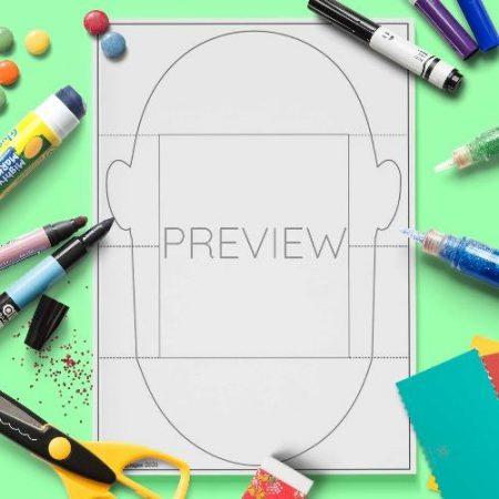 ESL English Face Pull Down Craft Activity Worksheet