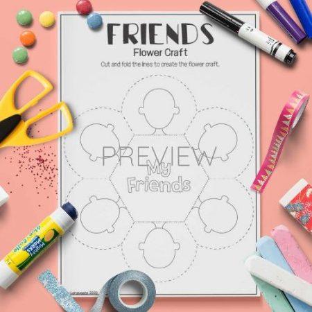 ESL English Friends Flower Craft Activity Worksheet