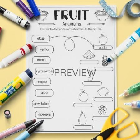 ESL English Fruit Anagrams Activity Worksheet
