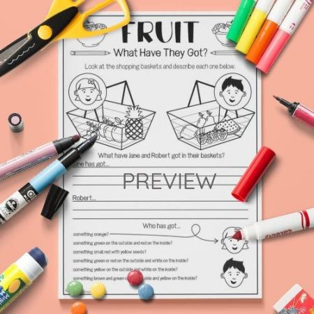 ESL English Fruit What Have They Got Activity Worksheet