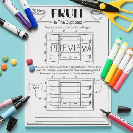 ESL English Fruit What Is In The Cupboard Activity Worksheet