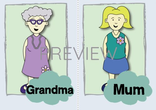 ESL English Grandma Mum Flashcard
