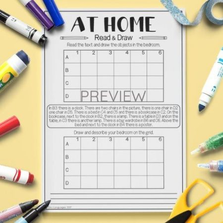 ESL English Home Read And Draw Activity Worksheet