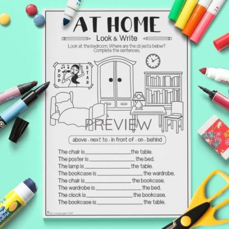 ESL English Home Look And Write Activity Worksheet