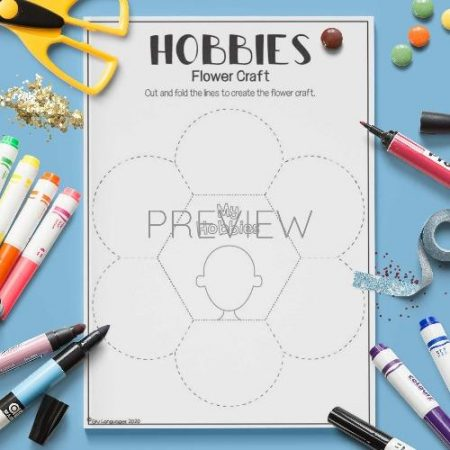 ESL English Hobbies Flower Craft Activity Worksheet
