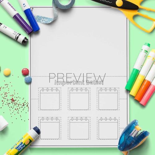 ESL English Important Dates Craft Activity Worksheet