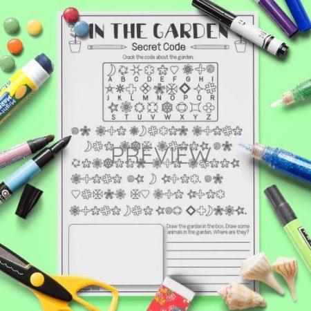 ESL English Garden Secret Code Activity Worksheet