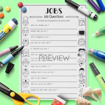 ESL English Job Questions Activity Worksheet