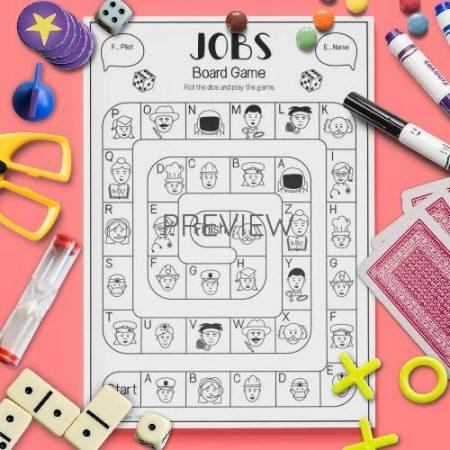ESL English Jobs Board Game Activity Worksheet