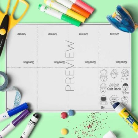 ESL English Quiz Book Craft Activity Worksheet