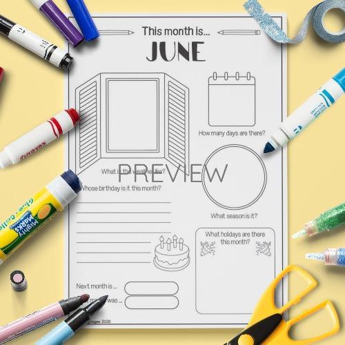 ESL English June Writing Activity Worksheet
