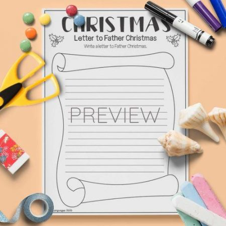 ESL English Letter To Father Christmas Activity Worksheet