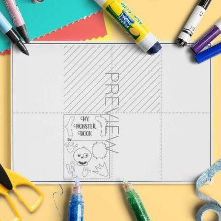 ESL English Monster Book Craft Activity Worksheet