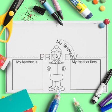 ESL English My Teacher Craft Activity Worksheet