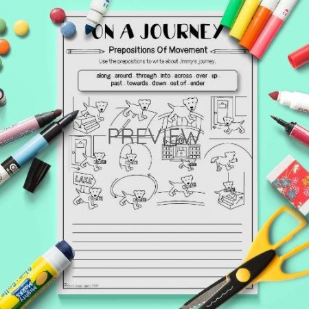 ESL English Prepositions Of Movement Writing Activity Worksheet
