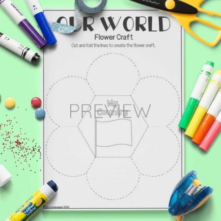 ESL English Our World Flower Craft Activity Worksheet