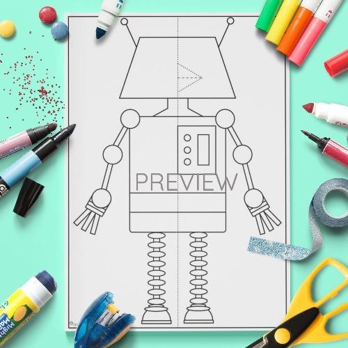 ESL English Pop Up Robot Craft Activity Worksheet