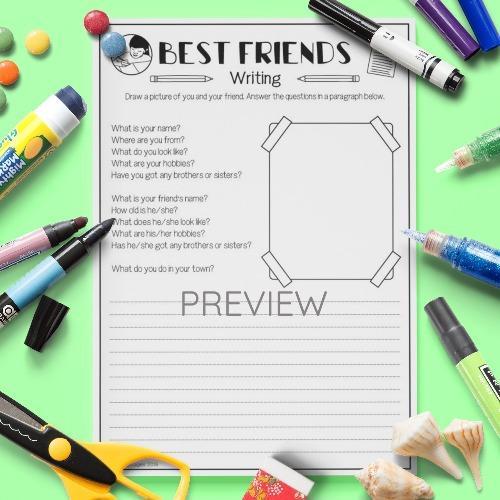 ESL English Best Friends Writing Activity Worksheet