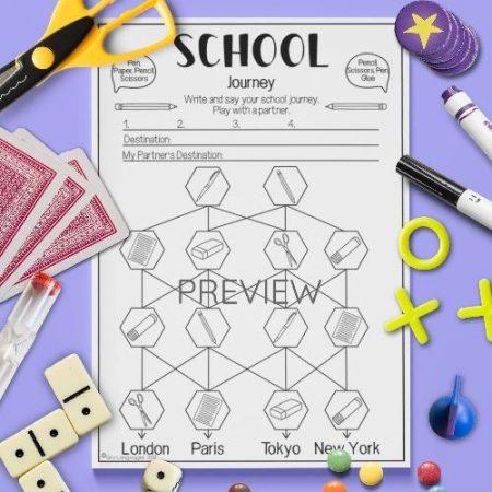 ESL English School Pronunciation Journey Activity Worksheet