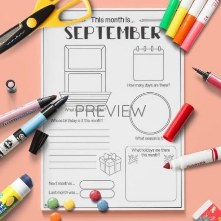 ESL English September Activity Worksheet