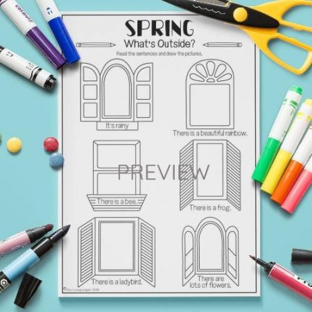 ESL English Spring What Is Outside Activity Worksheet