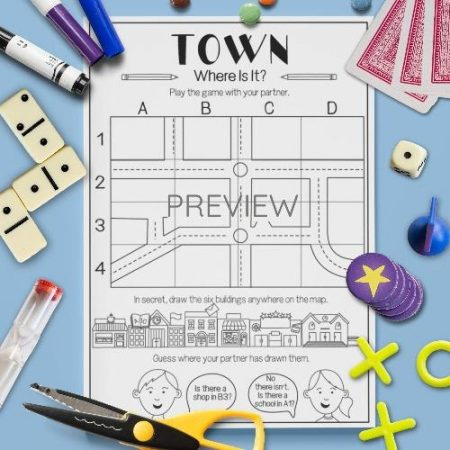 ESL English Town Where Is It Activity Worksheet
